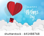 mother's day greeting card with ... | Shutterstock .eps vector #641488768