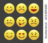 set of emoticons  icon pack ... | Shutterstock .eps vector #641489680