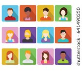flat people icons. male and... | Shutterstock .eps vector #641490250