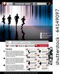 eps10 vector website template | Shutterstock .eps vector #64149097