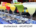 margarita cocktails with... | Shutterstock . vector #641491249