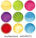 vector round glassy colorful... | Shutterstock .eps vector #64149271