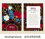 cover design with floral... | Shutterstock .eps vector #641496448