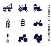 agricultural icons set. set of... | Shutterstock .eps vector #641508919