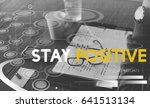 Small photo of Stay Positive Optimistic Inspire Mindset Word