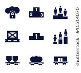 platform icons set. set of 9... | Shutterstock .eps vector #641514070