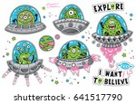 vector childish patches with... | Shutterstock .eps vector #641517790