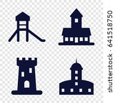 citadel icons set. set of 4... | Shutterstock .eps vector #641518750