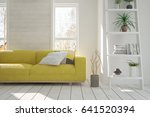 white modern room with sofa.... | Shutterstock . vector #641520394