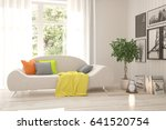 white room with sofa and green... | Shutterstock . vector #641520754