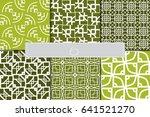 set of 6 beautiful geometric... | Shutterstock .eps vector #641521270