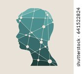profile of the head of a man.... | Shutterstock .eps vector #641522824