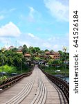 Small photo of old wooden bridge for travel make by belief of people