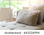 cushion on sofa in modern...   Shutterstock . vector #641526994