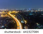 night view of bangkok and night ... | Shutterstock . vector #641527084