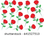 rose set | Shutterstock .eps vector #641527513