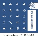 tax and finance icon set clean... | Shutterstock .eps vector #641527534