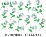 rose set   Shutterstock .eps vector #641527558
