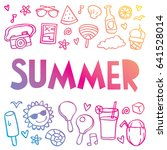 summer icon illustration doodle | Shutterstock .eps vector #641528014