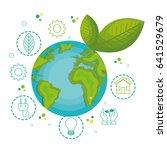 green globe design. | Shutterstock .eps vector #641529679