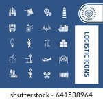 logistic icon set clean vector | Shutterstock .eps vector #641538964