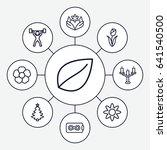 ornament icons set. set of 9...   Shutterstock .eps vector #641540500
