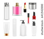 mock up of cosmetic package.... | Shutterstock .eps vector #641542000