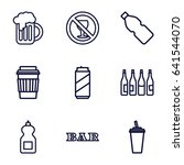 set of 9 beer outline icons... | Shutterstock .eps vector #641544070