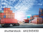 logistics import export... | Shutterstock . vector #641545450