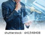 double exposure of professional ... | Shutterstock . vector #641548408