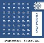 calendar icon set clean vector | Shutterstock .eps vector #641550103