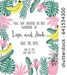 wedding card templates with... | Shutterstock .eps vector #641554300