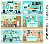 people  patients in hospital ... | Shutterstock . vector #641563249
