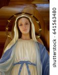 the procession blessed virgin... | Shutterstock . vector #641563480