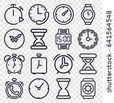 timer icons set. set of 16... | Shutterstock .eps vector #641564548