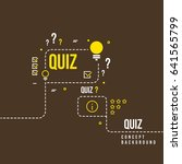 quizzes  school exam quiz... | Shutterstock . vector #641565799