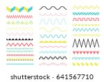 big set of zig zag and wave... | Shutterstock .eps vector #641567710