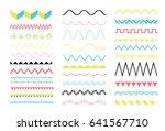big set of zig zag and wave...   Shutterstock .eps vector #641567710