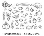 fresh vegetables and fruit... | Shutterstock . vector #641572198