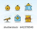 cute orange icon ui kits for...