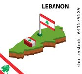 isometric map and flag of... | Shutterstock .eps vector #641579539