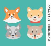 funny cartoon dog character... | Shutterstock .eps vector #641579620