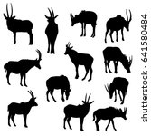 Vector Set Of Antelopes  Hand...