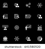 business and finances icons set....
