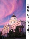 the state capitol of california ... | Shutterstock . vector #641581330