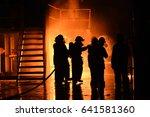 emergency fire rescue  ... | Shutterstock . vector #641581360