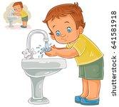 vector illustration of a little ... | Shutterstock .eps vector #641581918