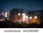Drops Of Rain On A Window Pane  ...