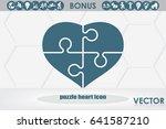 puzzle heart icon vector...   Shutterstock .eps vector #641587210