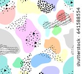 beautiful colorful abstract... | Shutterstock .eps vector #641588554